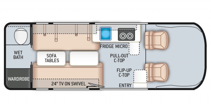 2021 THOR MOTOR COACH Sequence 20L Floorplan