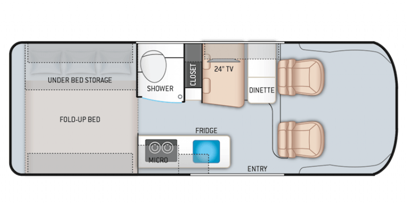 2021 THOR MOTOR COACH Sequence 20A Floorplan