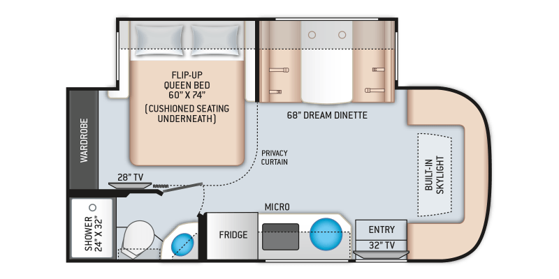 2021 THOR MOTOR COACH Gemini 23TW AWD Floorplan