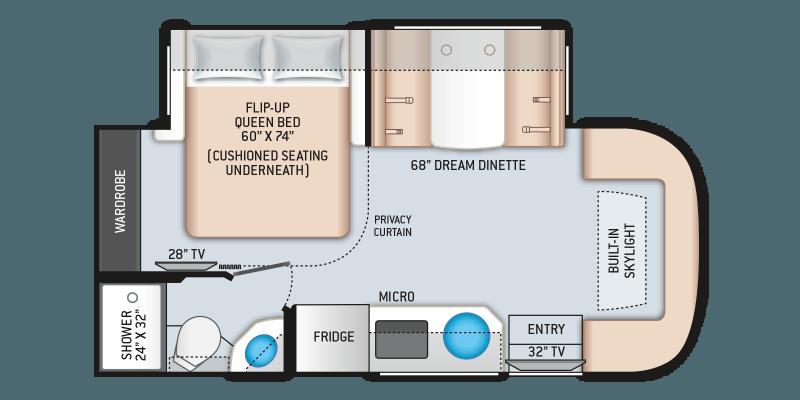 2021 THOR MOTOR COACH Gemini AWD 23TW Floorplan