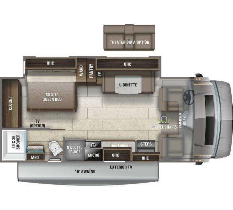 2021 ENTEGRA COACH Odyssey 24B Floorplan