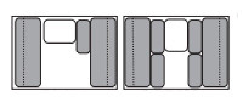 2021 JUMPING JACK TRAILERS Standard 6 x 8 BLACKOUT w/8' Tent Floorplan
