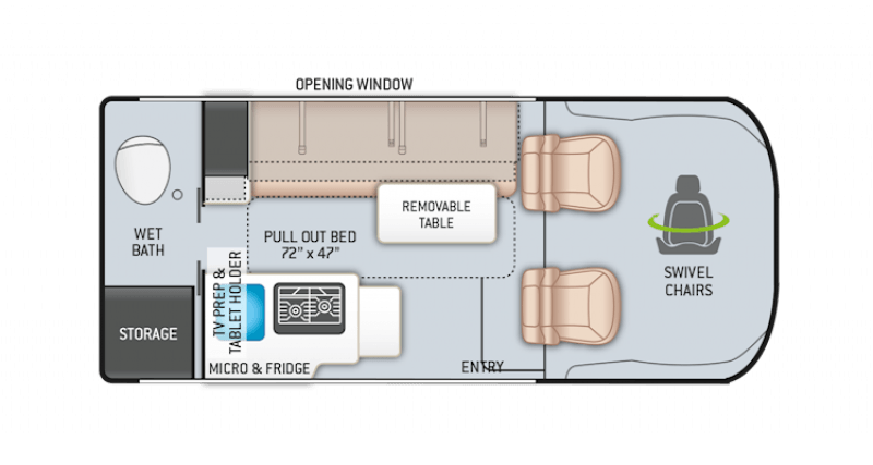 2022 THOR MOTOR COACH Scope 18M Floorplan