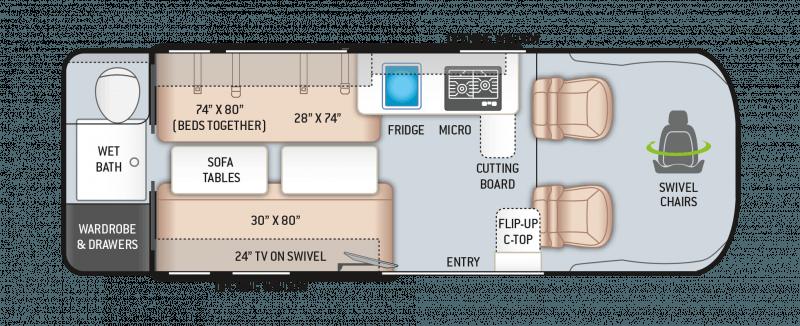 2022 THOR MOTOR COACH Sequence 20L Floorplan
