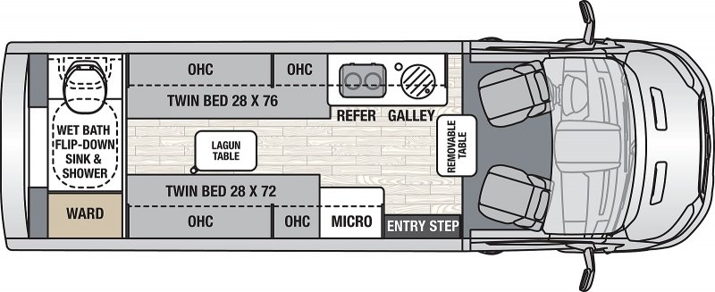 2022 COACHMEN Beyond 22RB AWD Floorplan