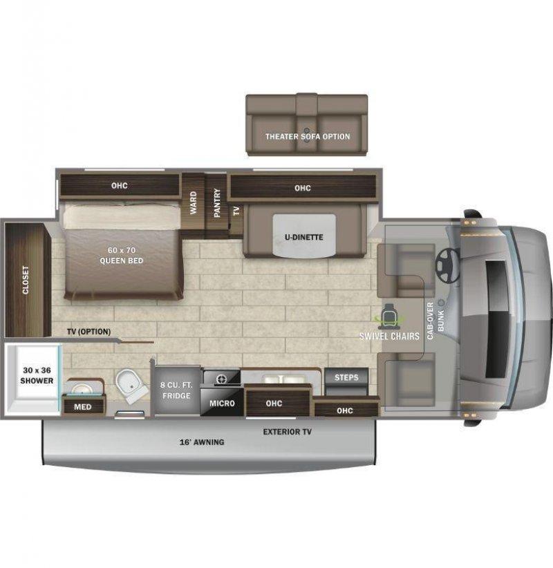 2022 ENTEGRA COACH Odyssey 24B Floorplan