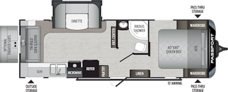 2020 KEYSTONE Passport 2521RL GT Floorplan