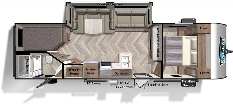 2021 FOREST RIVER Salem 263BH - Double Bunks Floorplan