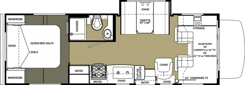 2019 FOREST RIVER Forester 2650 Floorplan
