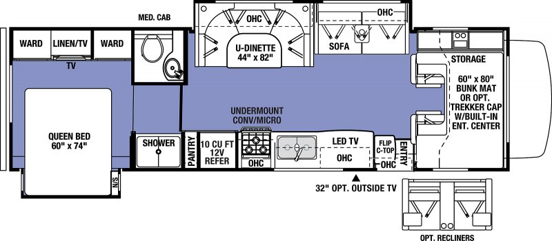 2019 FOREST RIVER Sunseeker 3010 Floorplan