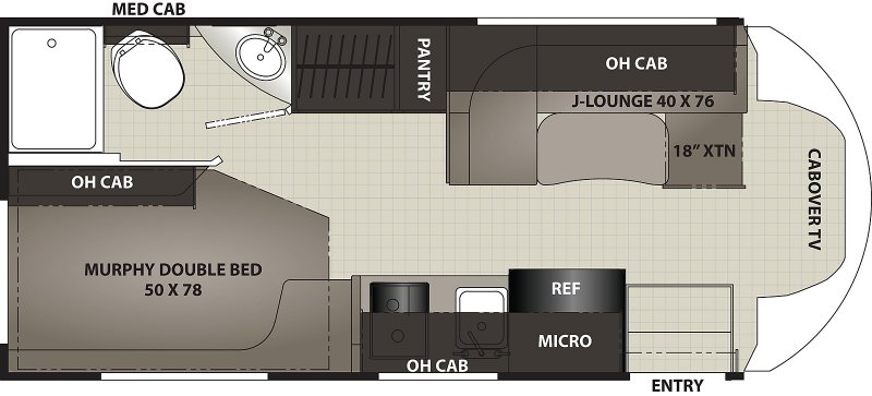 2021 FOREST RIVER Coachmen Cross Trek 21XG AWD Floorplan