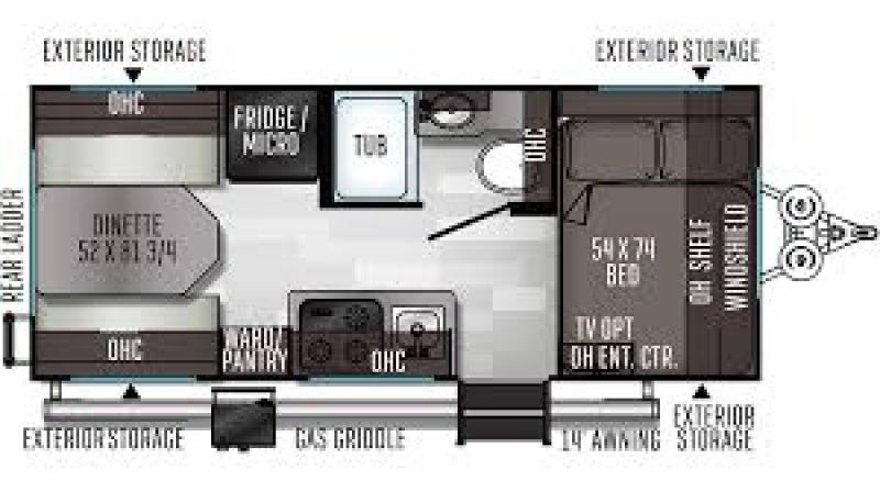 2020 FLAGSTAFF E-Pro 19RD - Only 2829 lbs Floorplan