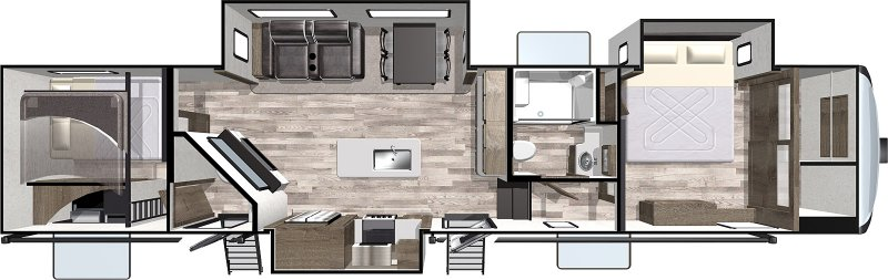 2021 FOREST RIVER CARDINAL 352BHLE Limited Floorplan