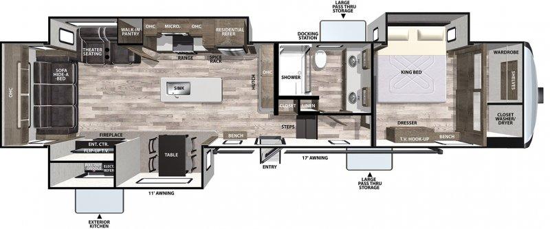 2021 FOREST RIVER CARDINAL 366DVLE Limited Floorplan