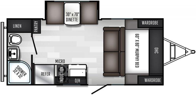 2021 PALOMINO Palomini 186RBS - Dinette Slide Floorplan
