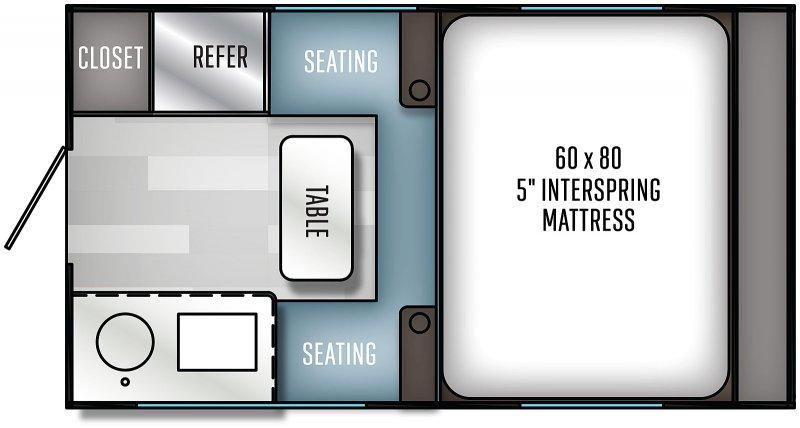 2021 PALOMINO Real Lite 1805 Hard Side - 1561 lbs Floorplan