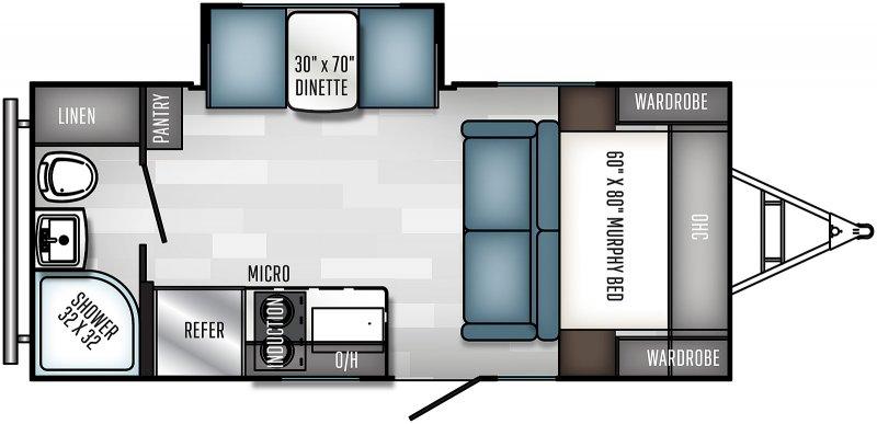 2022 PALOMINO Real Lite Mini 186RBS - Badlands Floorplan