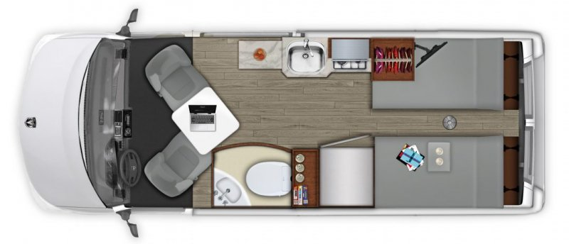 2021 ROADTREK Roadtrek Play Floorplan