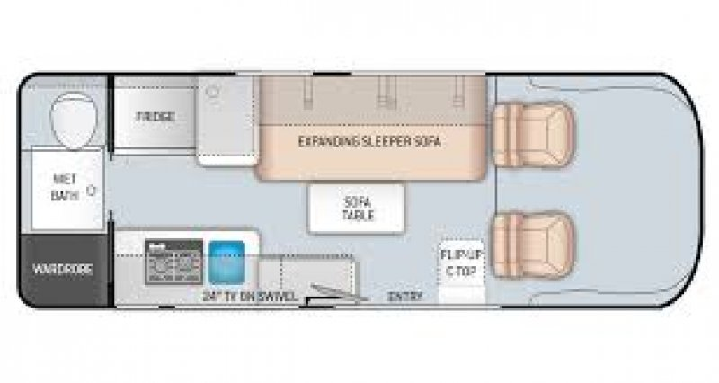 2021 THOR MOTOR COACH Sequence 20K Floorplan
