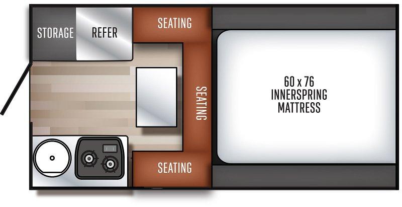 2020 PALOMINO Real Lite 1600 - 1197 lbs Floorplan
