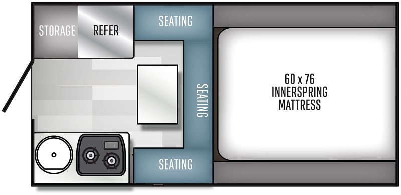 2021 PALOMINO Real Lite 1600 - 1197 lbs Floorplan