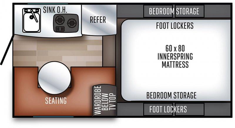 2020 PALOMINO Real Lite 1604 - 1591lbs Floorplan