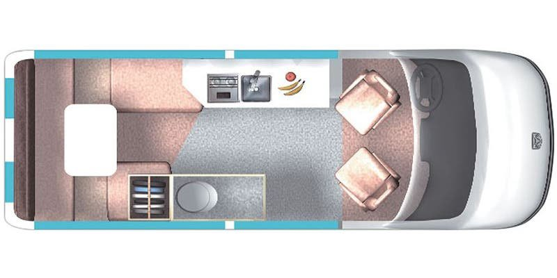 2019 ROADTREK SS Agile Mercedes Benz Floorplan