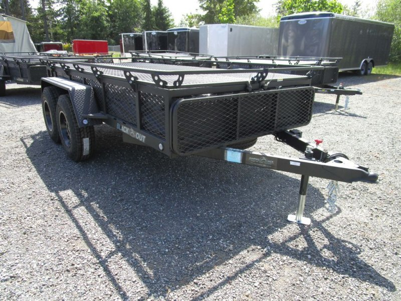 2021 JUMPING JACK TRAILERS Mid 6 x 12 BLACKOUT w/12' Tent