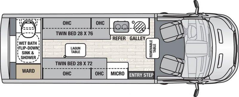 2022 COACHMEN Beyond 22 Rear Bath Li3 AWD
