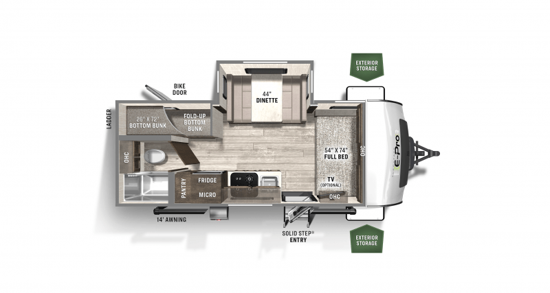 2021 FLAGSTAFF E-PRO by FLAGSTAFF E20BHS Floorplan