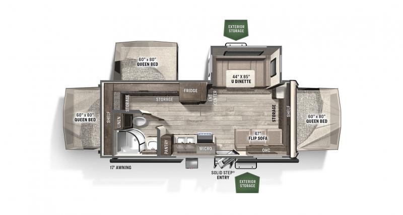 2021 FOREST RIVER SHAMROCK SK233S Floorplan