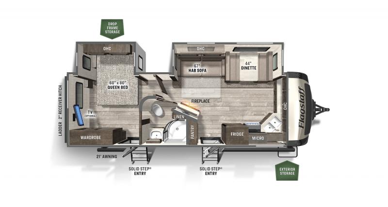 2021 FOREST RIVER FLAGSTAFF FS26FKBS Floorplan