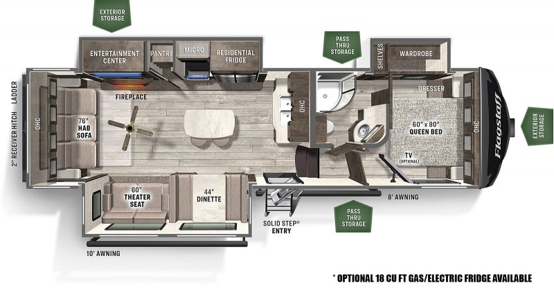 2021 FOREST RIVER FLAGSTAFF FS528IKRL Floorplan
