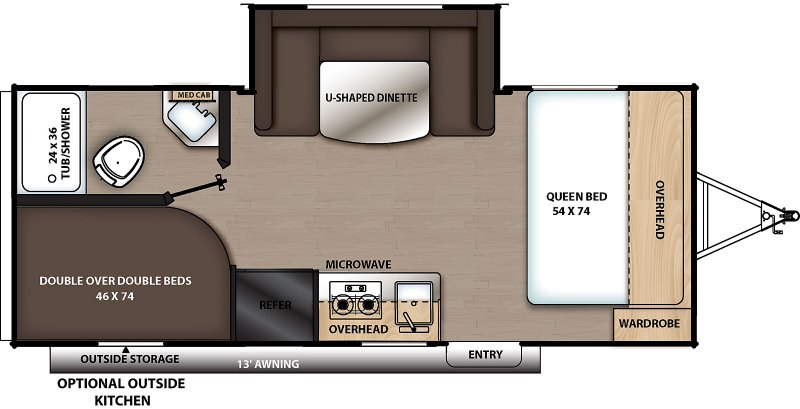 2021 COACHMEN CATALINA SUMMIT SERIES 8 CAT184BHS Floorplan