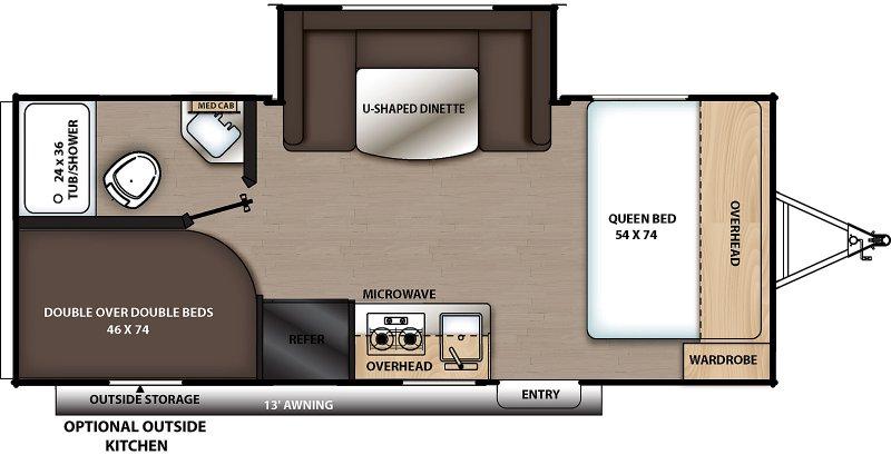 2022 COACHMEN CATALINA SUMMIT SERIES 8 CAT184BHS Floorplan