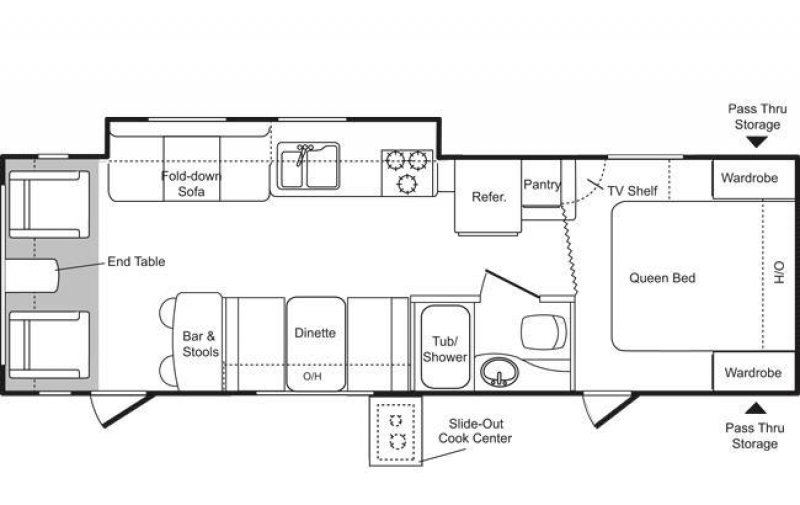2009 KEYSTONE RV PASSPORT PO285RL Floorplan