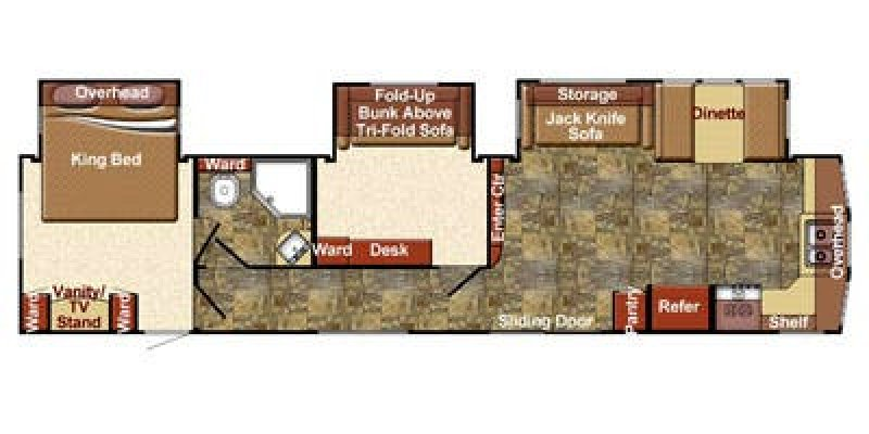 2015 FOREST RIVER CONQUEST 40DEN Floorplan