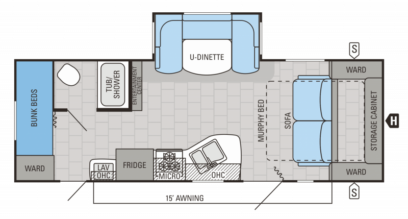 2015 JAYCO JAYCO 23MBH Floorplan