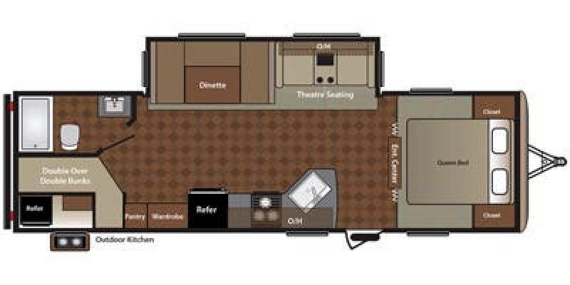 2016 KEYSTONE RV SPRINGDALE 270 Floorplan