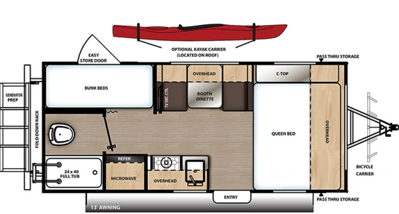 2021 COACHMEN EXPEDITION BY CATALINA CAT192BH Floorplan
