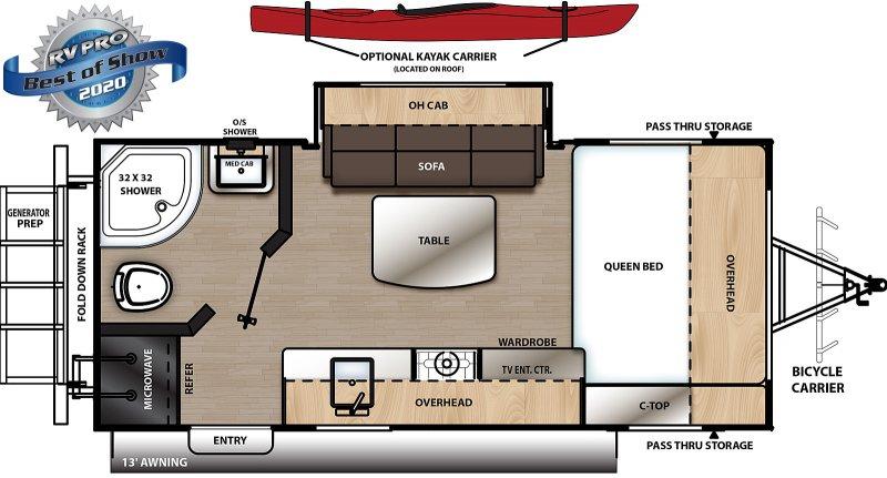 2021 COACHMEN CATALINA EXPEDITION CAT192FQS Floorplan