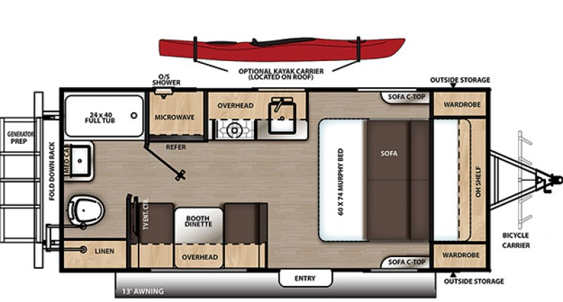 2021 COACHMEN EXPEDITION BY CATALINA CAT192RB Floorplan