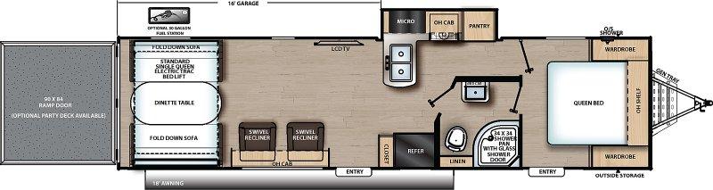 2021 COACHMEN TRAIL BLAZER CAT30THS Floorplan