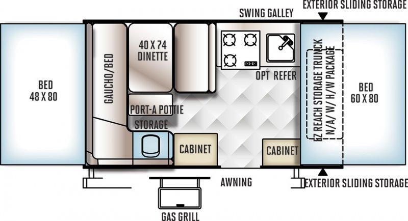 2013 FOREST RIVER FLAGSTAFF 206STSE Floorplan