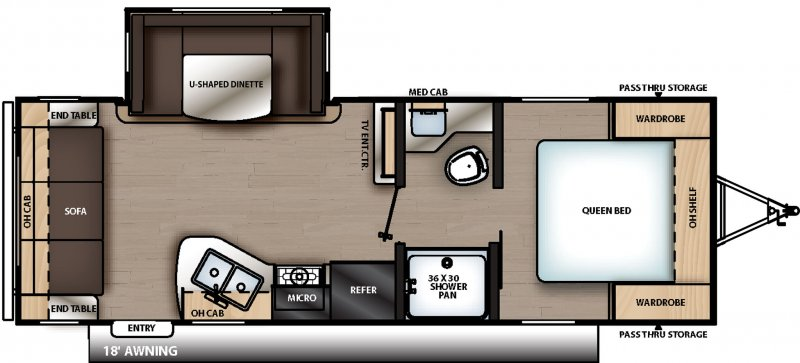 2020 CATALINA SUMMIT SERIES 8 CAT231MKS Floorplan
