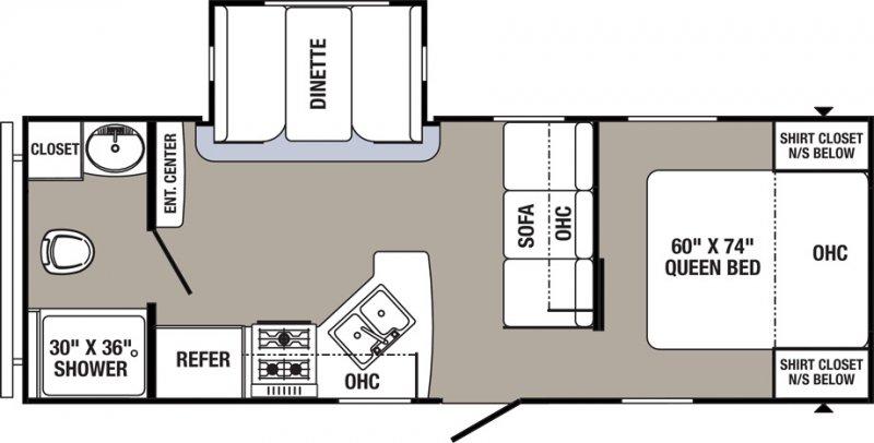 2020 PALOMINO PUMA XLE 24FBSC Floorplan