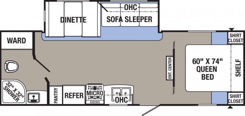 2020 PALOMINO PUMA XLE 25RBSC Floorplan