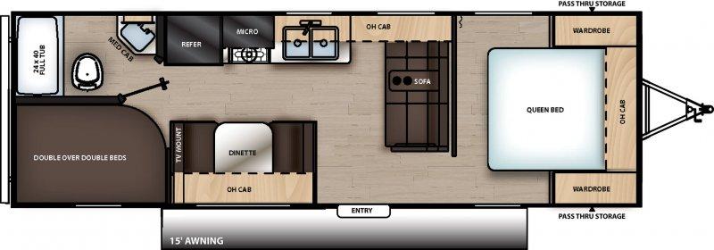 2020 COACHMEN CATALINA SUMMIT SERIES 8 261BH Floorplan