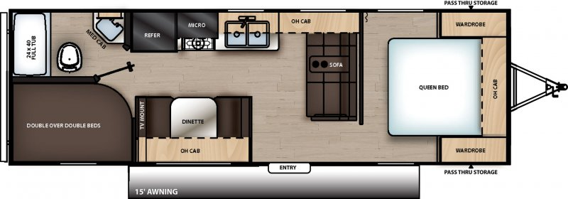 2021 CATALINA SUMMIT 8 CAT261BH Floorplan