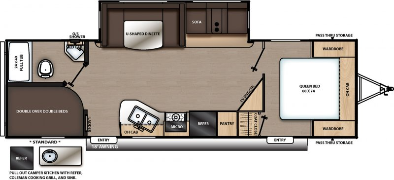 2020 COACHMEN CATALINA LEGACY EDITION 263BHSCK Floorplan